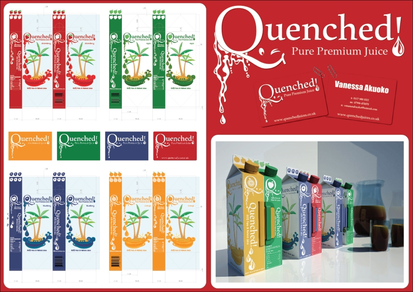 Quenched! Juice Carton - Mock Up